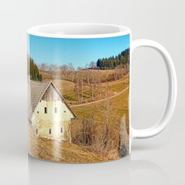 Traditional abandoned farmhouse | architectural photography Coffee Mug