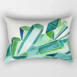 Emerald Watercolor Rectangular Pillow