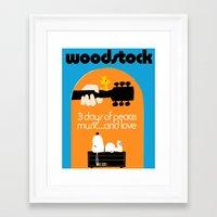 woodstock Framed Art Prints featuring Woodstock by EleanorRose147