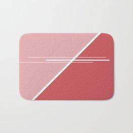 Red Triangles #buyart #kirovair #design #minimalism #society6 Bath Mat