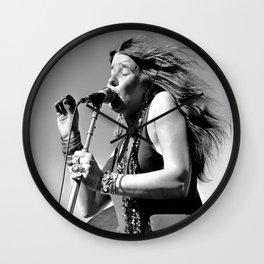Janis#Joplin Poster, Vintage Photograph,Rock Music Legends,Housewarming gift Wall Clock