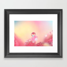 Candy Pink Framed Art Print