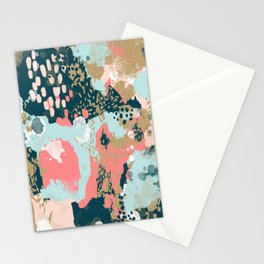 Eisley - Modern fresh abstract painting in bright colors perfect for trendy girls decor college Stationery Cards