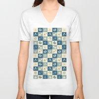 nautical V-neck T-shirts featuring Nautical  by Julscela