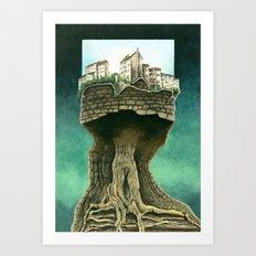 City on a tree Art Print