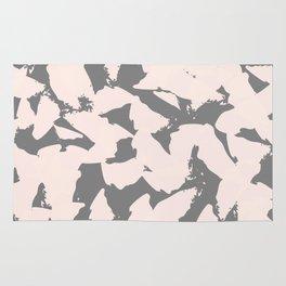 Pastel Pink Bird Wings on Grey Rug