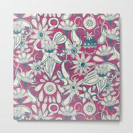 sarilmak pink blue Metal Print