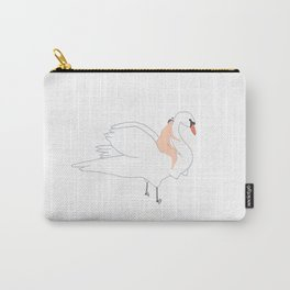 Swan and Her Girl Carry-All Pouch