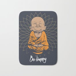Be Happy Little Buddha Bath Mat
