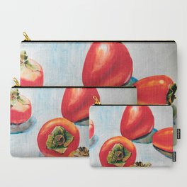 Watercolor Persimmons without Leaves Carry-All Pouch