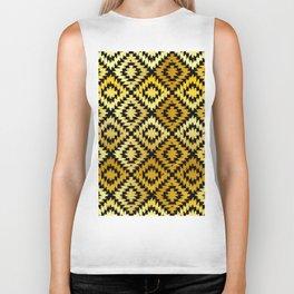 Turkish carpet gold black. Patchwork mosaic oriental kilim rug Biker Tank