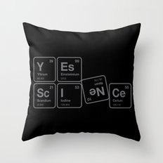 Yes Science! Throw Pillow