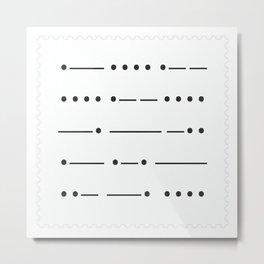 Stamp series - Morze Metal Print
