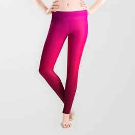 Hot Pink Red Ombre Leggings