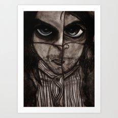 Insomnia 2 - Sepia Art Print