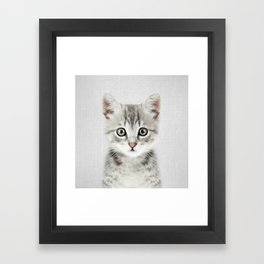 Kitten - Colorful Framed Art Print