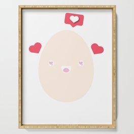 Egg Rekord Eggcellent word game Kawaii gift Serving Tray
