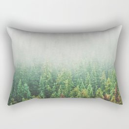 Misty Jasper Pine Forest Rectangular Pillow