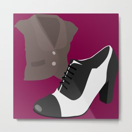 Fashion Statement Episode Oxfords & Vest Metal Print