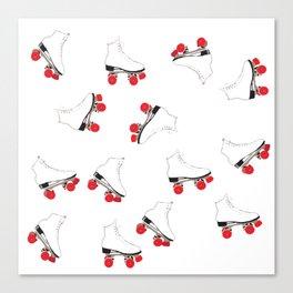 White Roller Skates Canvas Print