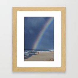 Rainbow Beach * Hawaii Framed Art Print