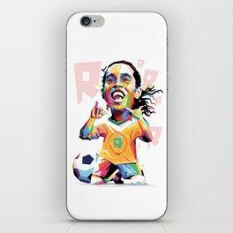 Ronaldinho Carricature WPAP iPhone Skin