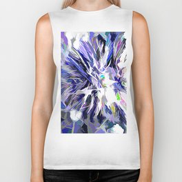 The Abstract Chestnut In Color Biker Tank