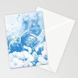 two snails make love wswb Stationery Cards