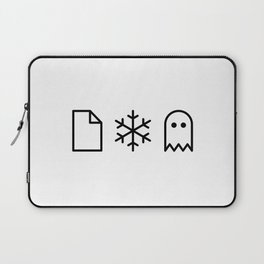 Paper, Snow, A Ghost. Laptop Sleeve