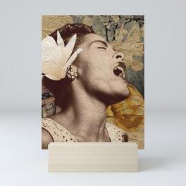 Billie Holiday Vintage Mixed Media Art Collage Mini Art Print