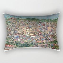 Map of Scranton Mural Print Rectangular Pillow