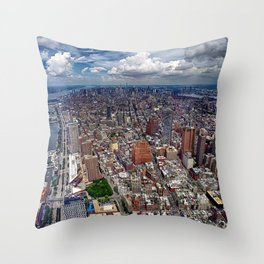 View on Manhattan from OneWorld Observatory Throw Pillow