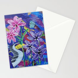 Musical Melodies Acrylic Mixed Media Stationery Cards