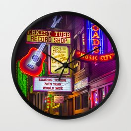 Music City Wall Clock