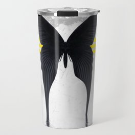 Blacked Out Butterfly Travel Mug