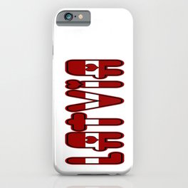 Latvia Font with Latvian Flag iPhone Case