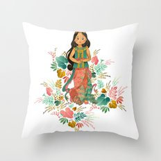 The Sundanese Goddess of Rice and Prosperity Throw Pillow