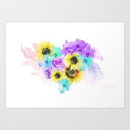 Floral Overdose Art Print