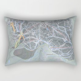 Schweitzer Mountain  Resort Trail Map Rectangular Pillow