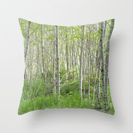 Valley Forest View Throw Pillow