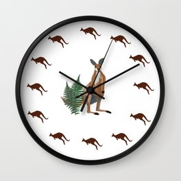 Kangaroo Drawing Wall Clock