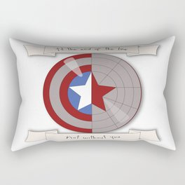 Steve Rogers and Bucky Barnes Shield Rectangular Pillow