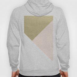 Gold meets Blush & White Geometric #1 #minimal #decor #art #society6 Hoody