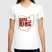 lebron T-shirts featuring Home of the King (Red) by Denise Zavagno