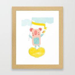Bear love Framed Art Print
