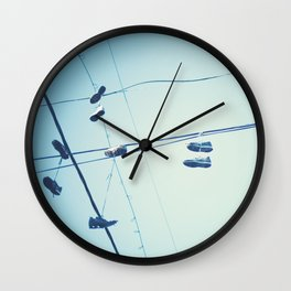 Shoes in the Sky  Wall Clock