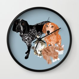 Lady, Blue, Leo and Butch Wall Clock