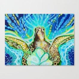 Magic Sea Turtle Canvas Print