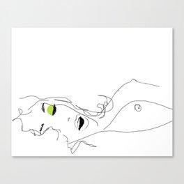 les yeux chartreux Canvas Print