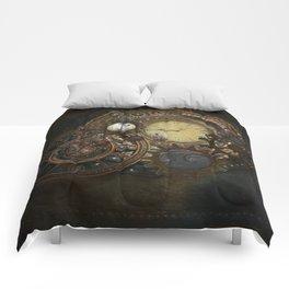 Steampunk Clocks Comforters